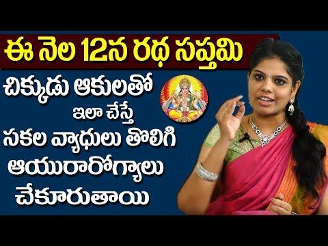 Ratha Saptami Importance    Significance of Ratha Saptami    Rajasudha    SumanTV
