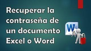 [Tutorial] Recuperar la contraseña de un documento Excel o Word #1