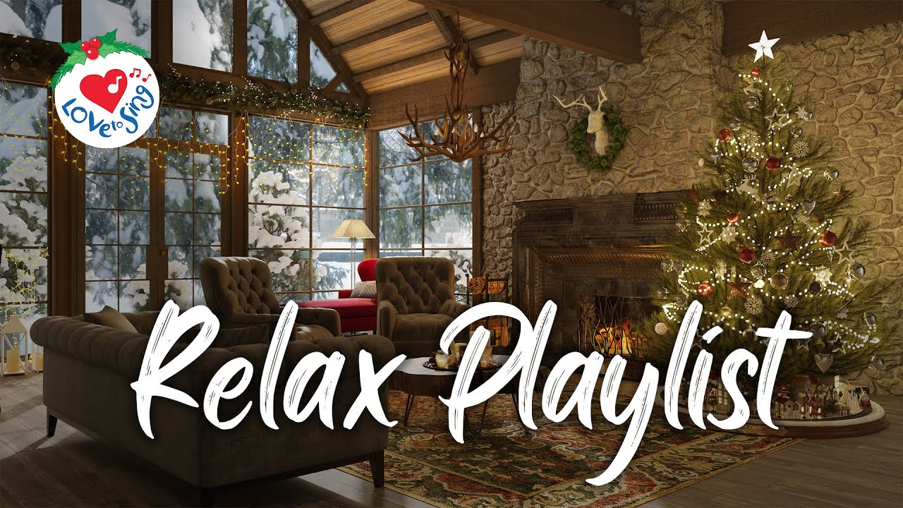 Christmas Piano Lounge Music Playlist - Christmas Background Relaxing Songs 2021