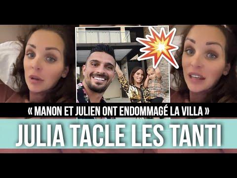 JULIA PAREDES EMMÉNAGE DANS L'ANCIENNE VILLA DE MANON ET JULIEN ! ELLE LES TACLE FORT ET BALANCE 😱
