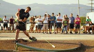 Farmers' Golf competition in Switzerland - Red Bull Hornussen