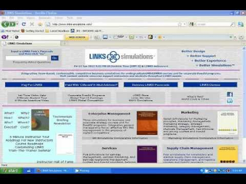 Overview of the Website of LINKS Supply Chain Management Simulation Game