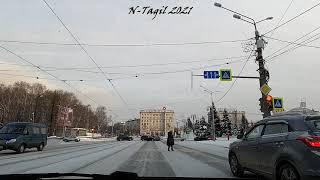 Проспект Ленина Нижний Тагил Январь 2021 морозы -35