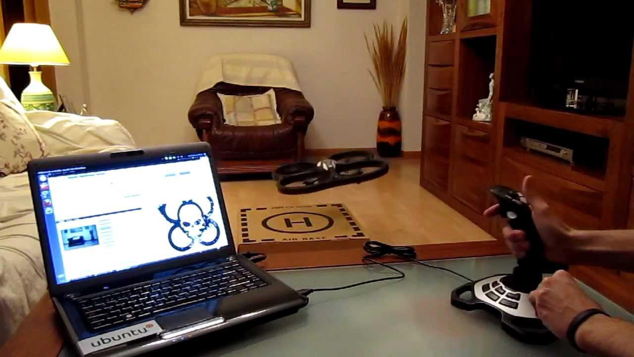 AR Drone + Ubuntu Linux + SDK + Logitech joystick
