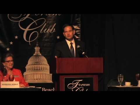 Forum Club 5,27,2016 Marco Rubio