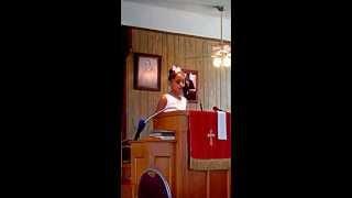 Missy Angela Bullock preaching for Youth Day-Bethany Baptist- Savannah, GA 07/07/2013