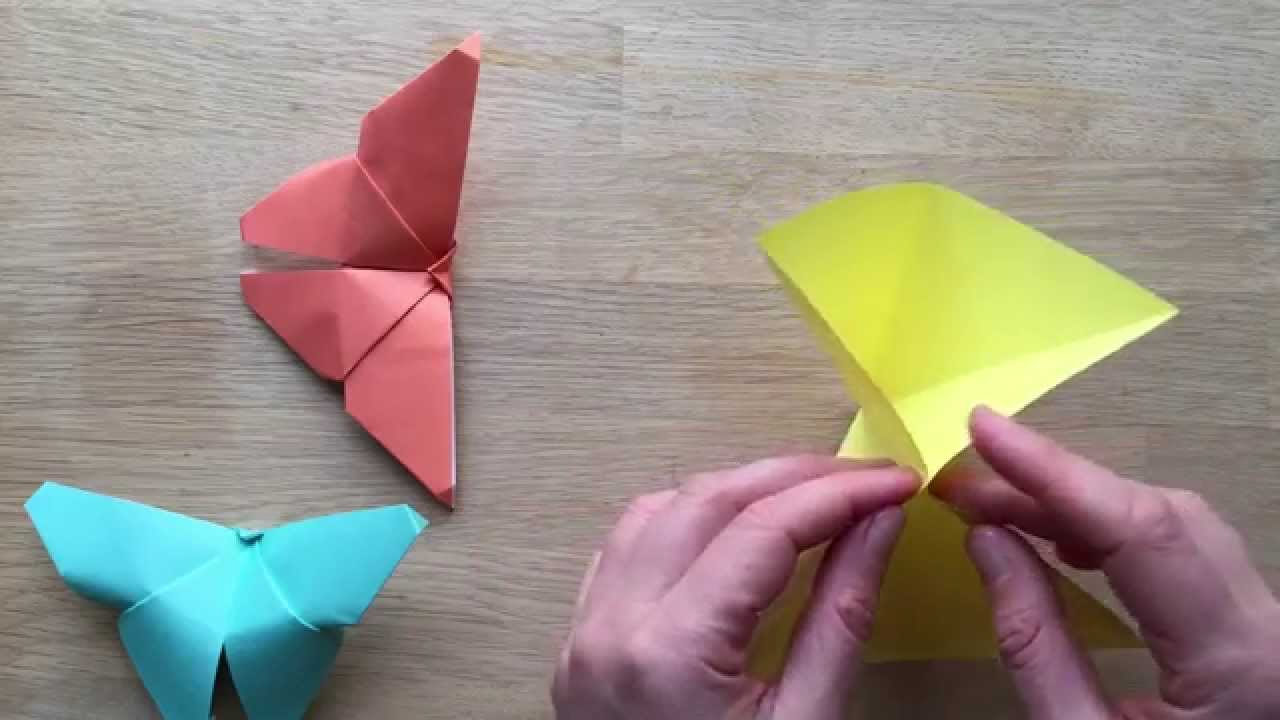 Easy Origami Butterfly Youtube