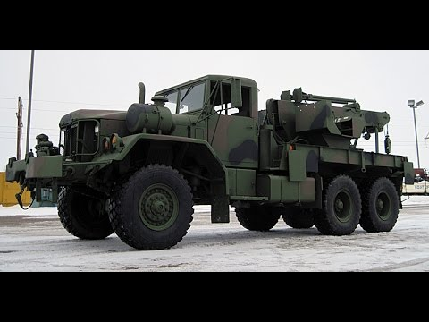 Military Wrecker For Sale >> M816 6x6 5 Ton Military Wrecker Truck - YouTube