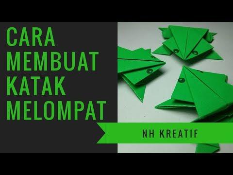 Cara Membuat Katak Melompat Menggunakan Kertas Origami Youtube