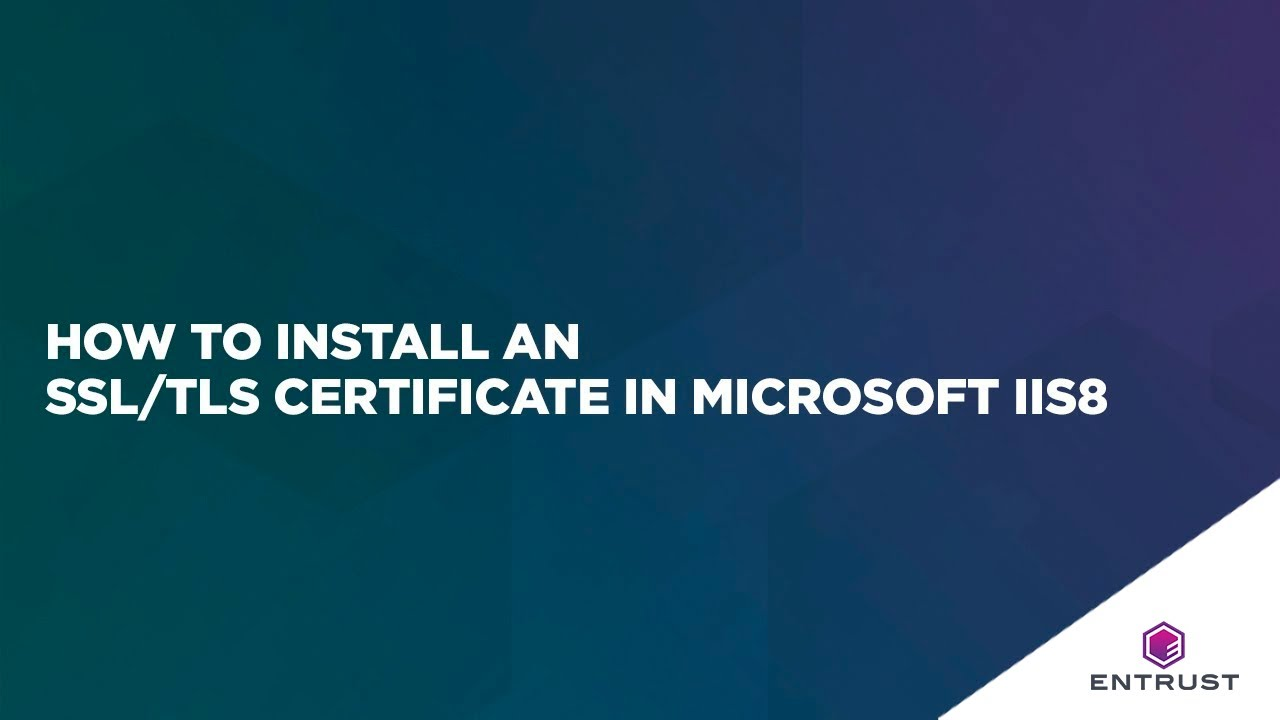 How To Install An Ssltls Certificate In Microsoft Iis8 Youtube