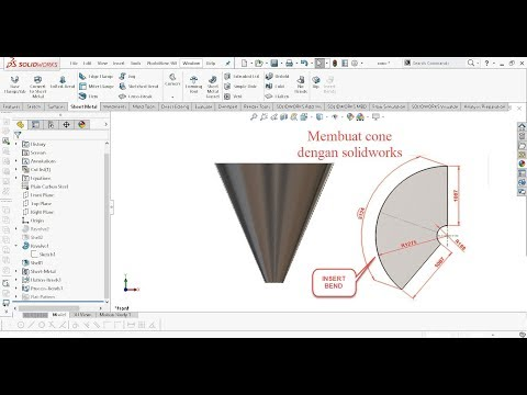 How To Create Sheet Metal Cone In Solidworks Using Loft