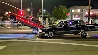 Lowrider Gas Hopping & Hittin' switches Van Nuys Blvd