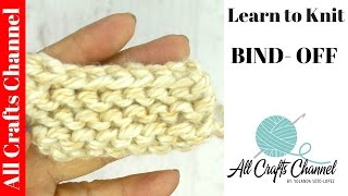 Learn to Knit  -  Easy  knit Bind Off
