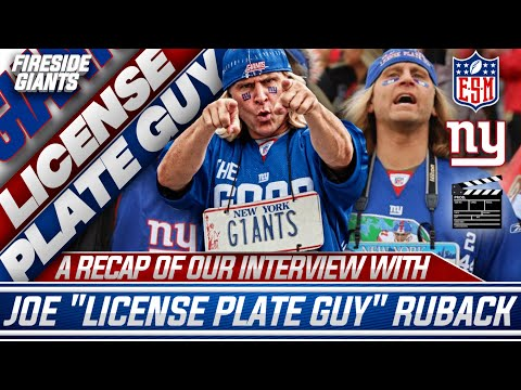 """Interview With New York Giants Superfan Joe """"License Plate Guy"""" Ruback!   TCJF Stream Highlights"""