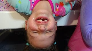 Bad Baby Victoria Pranks Annabelle & Crybaby Daddy Hidden Egg Toy Freaks