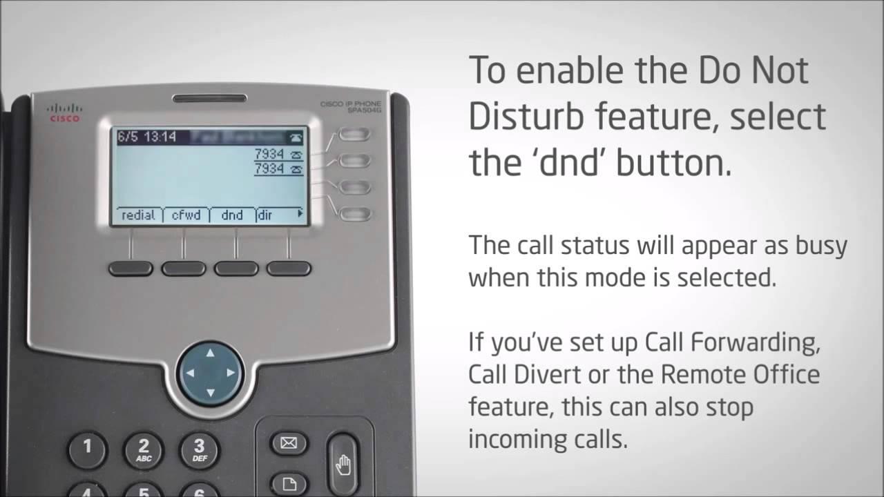 Cisco Desk Phone Using Do Not Distrub And Deactivating Do Not - Do not disturb desk sign