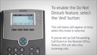 Cisco IP Phone SPA504G - Do Not Disturb - Video Training