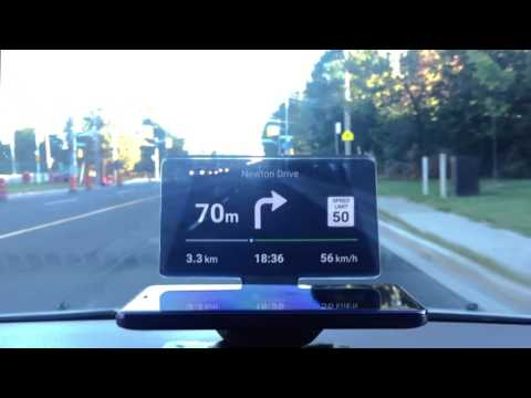 Head-Up Display (HUD) For Less than $50 | HUDIFY | Navigation of the Future