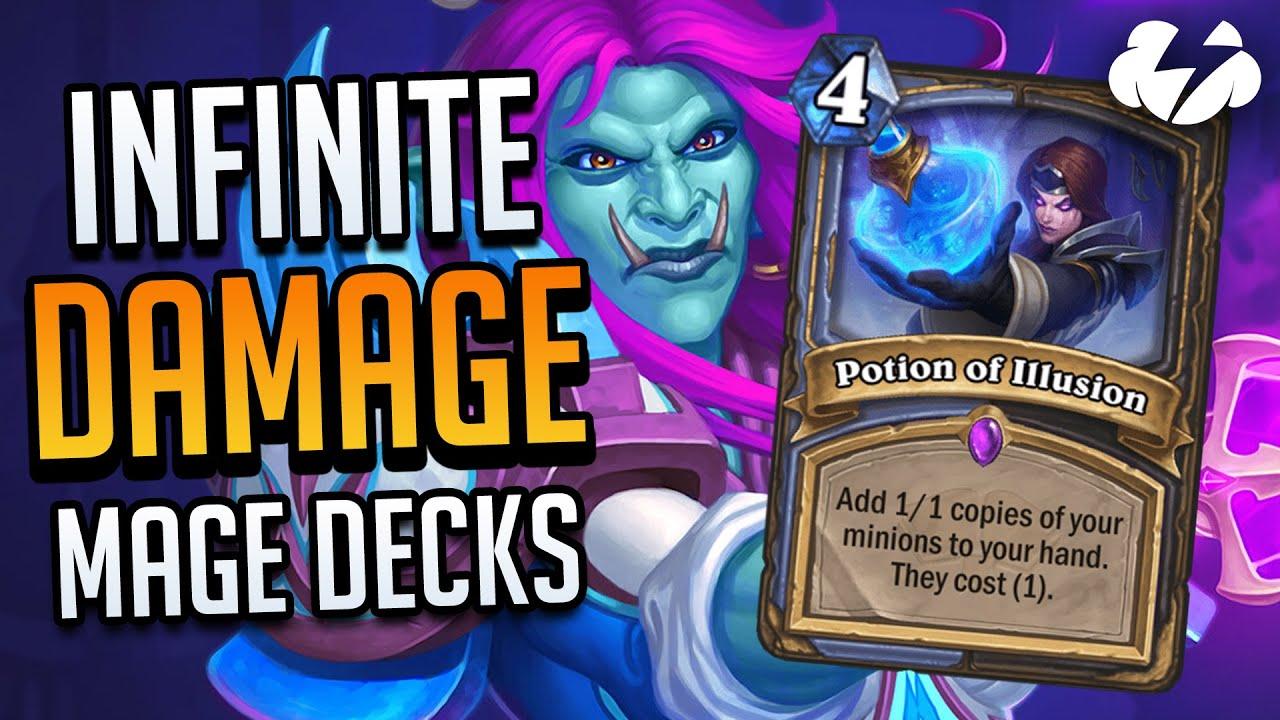 Infinite Damage Mage Decks!   Tempo Strategy Hearthstone [Scholomance Academy]