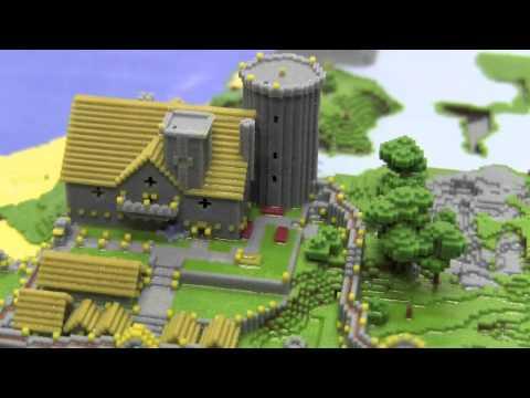 Minecraft Village 3D Print - YouTube