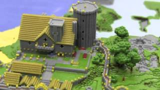 Minecraft Village 3D Print(A 3D model of a minecraft-village, exported directly out of the game world using a modified minecraft.print() script, colored using CAD software, and printed on a ..., 2012-01-05T16:12:52.000Z)