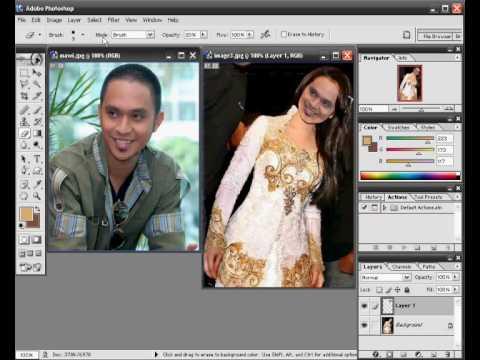 Membuat warna kulit menjadi putih dengan Adobe Photoshop