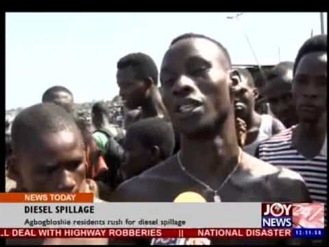Agbogbloshie residents rush for diesel spillage - Joy News Today (2-6-14)