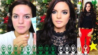 Christmas Party I Hair, Makeup, & Outfit Idea!