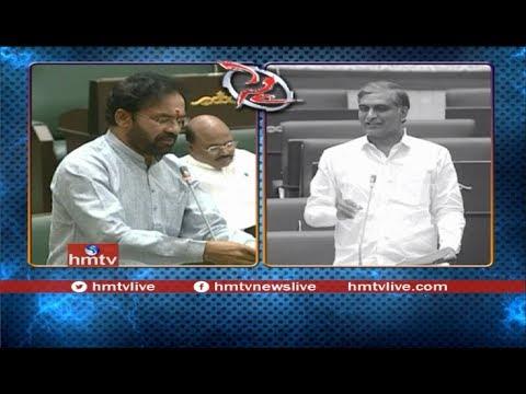 War Words Between Minister Harish Rao and Kishan Reddy Over Irrigation Projects | Telugu News | hmtv