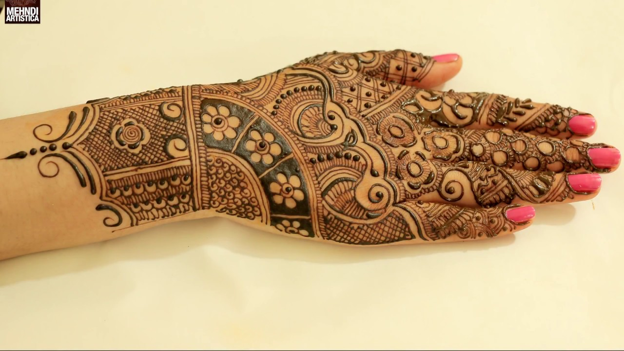 Intricate Mehndi Patterns : Intricate fillers mehndi designs for hands floral bridal