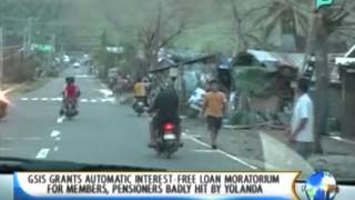 GSIS grants automatic interest-free loan moratorium for members, pensioners badly hit by Yolanda
