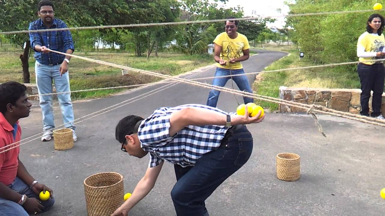 Ball Game With Ropes Team Building Activity Youtube