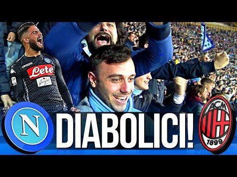 NAPOLI 2-1 MILAN | DIABOLICI! LIVE REACTION GOL CURVA B HD