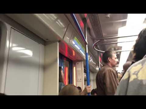 Посадка на поезд москва со станции китай-город КРЛ.