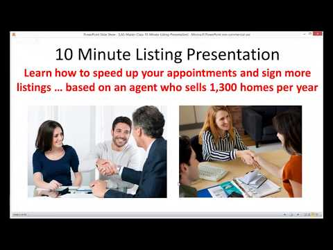 How To Give A 10 Minute Listing Presentation