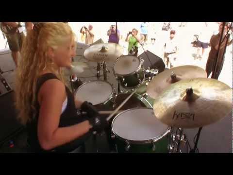 The Jenson Rhodes Band drummer extraordinaire Lindsay Martin @ Albany NY