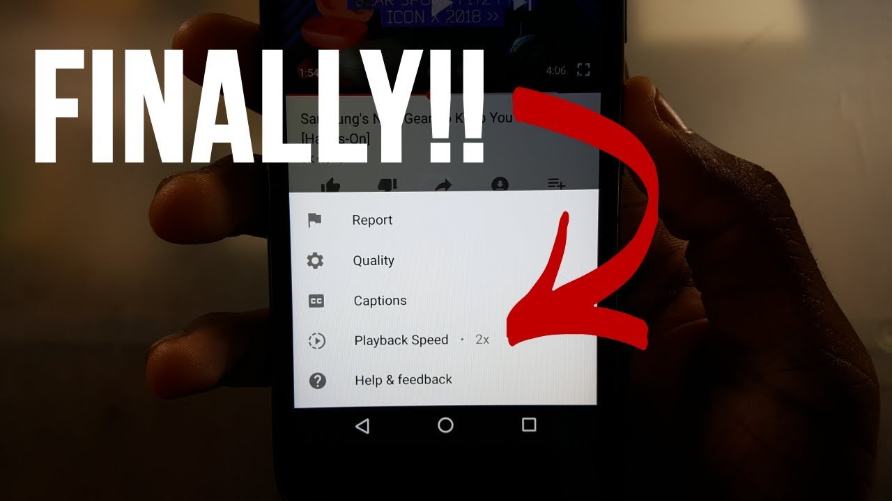 How to Change Video Playback Speed on the YouTube App