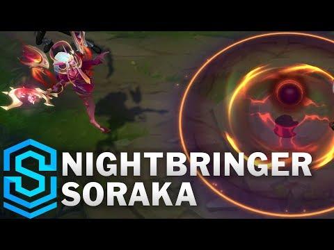 Nightbringer Soraka Skin Spotlight - Pre-Release - League of Legends