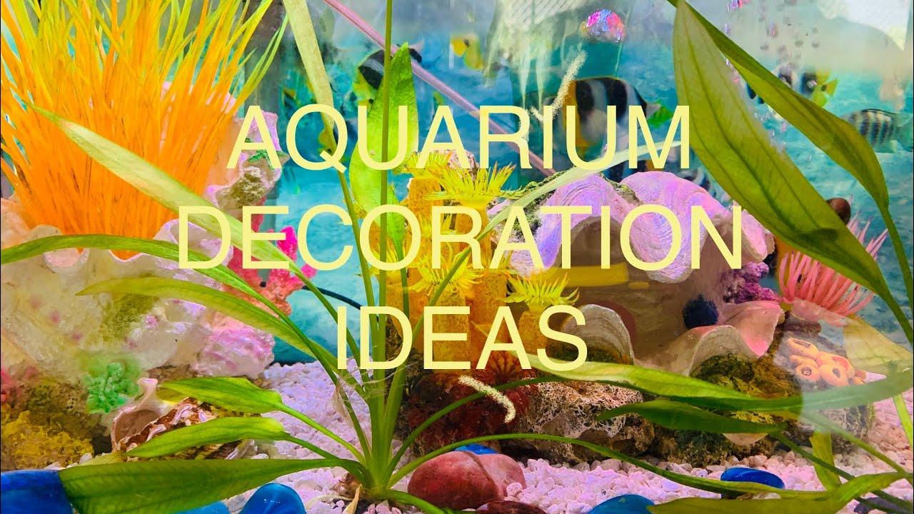 HOW TO DECORATE FRESHWATER FISH TANK. BEAUTIFUL AQUARIUM. TROPICAL FISH AQUARIUM DECORATION AT HOME.