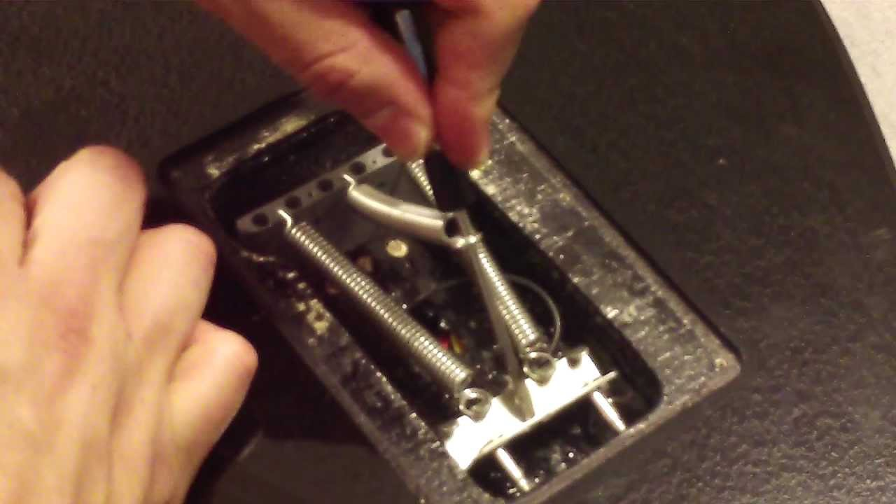 Fender Stratocaster: How to install a spring tensioner on a guitar ...