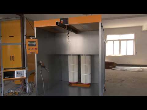 Powder Coating Spray Booth With Filter Recovery