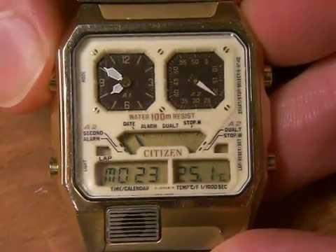 d972c952ffa Vintage CITIZEN ANA-DIGI TEMP LCD Watch (1981). - YouTube