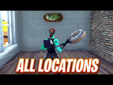 """""""Dance With A Fish Trophy At Different Named Locations"""" FORTNITE MAP LOCATION"""