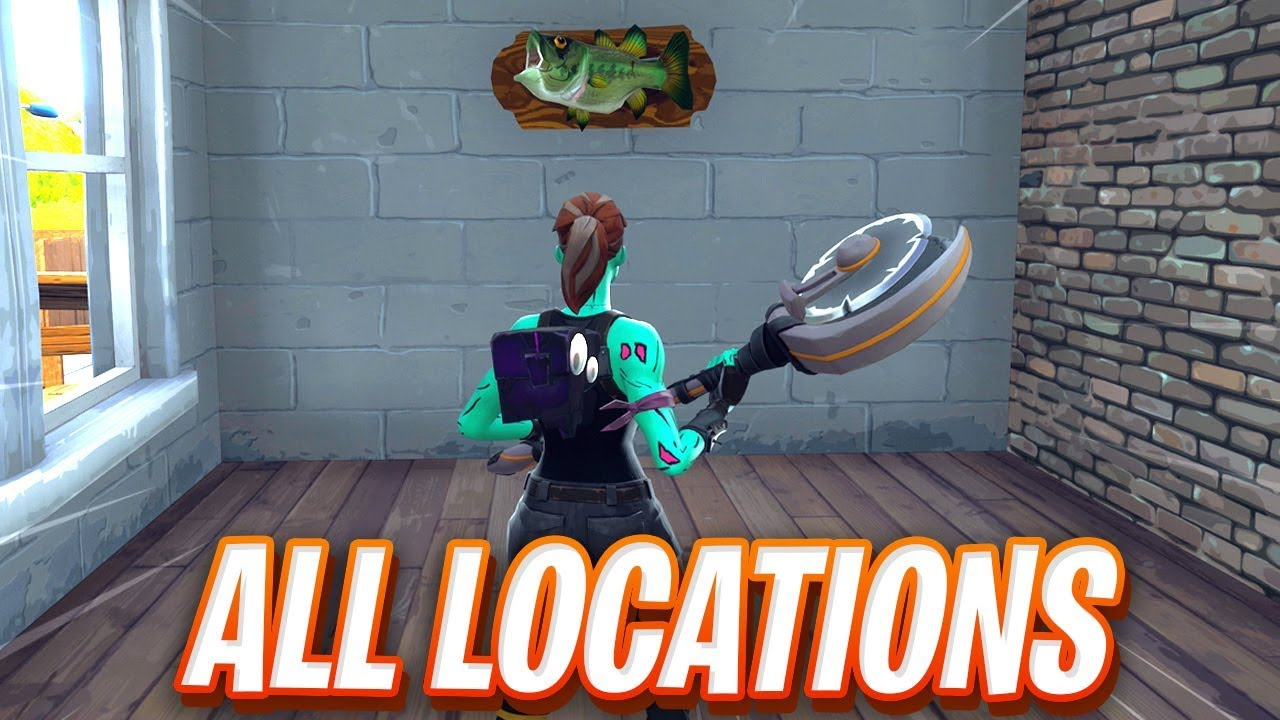 Dance With A Fish Trophy At Different Named Locations Fortnite Map