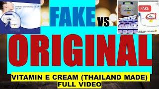 FAKE VERSUS ORIGINAL VITAMIN E CREAM! FULL VIDEO