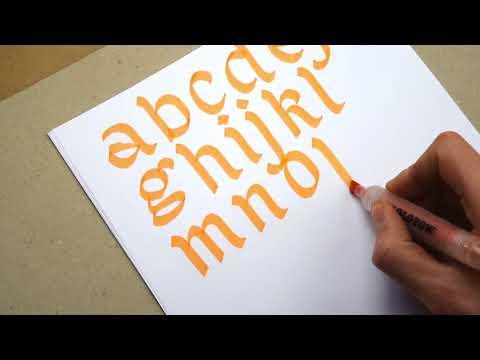 Red Bug Lettering #2: One Letter Meditation & Lettering Basics