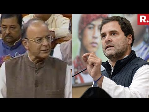 Arun Jaitley Vs Rahul Gandhi On Rafale Deal