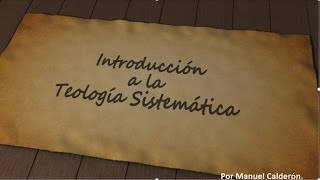 CURSO DE TEOLOGIA SISTEMATICA - CLASE 1