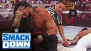"Roman Reigns makes Jey Uso say ""I quit"" inside Hell in a Cell: SmackDown, Oct. 30, 2020"