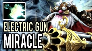 Max Range Imba Electric Gun Sniper Mid by Miracle 9k MMR Dota 2 Patch 7.00 Gameplay
